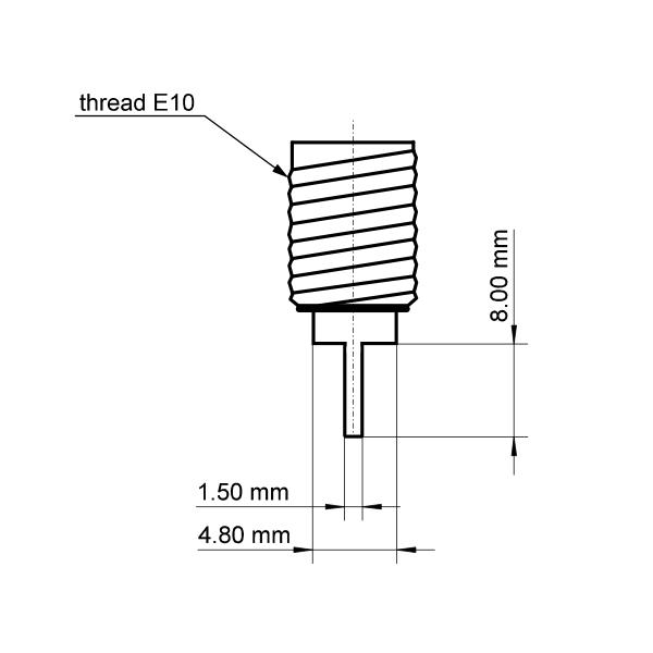 Lot de 10 douilles E10 pour lampe de signalisation