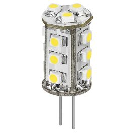 Lampe LED G4 12V 1W5 12VDC blanc chaud diamètre 14 mm