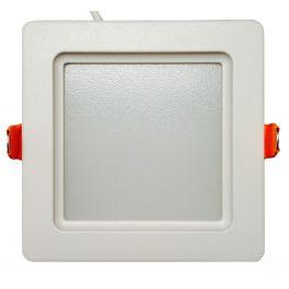 Plafonnier LED 12W 230V carré encastrable blanc chaud