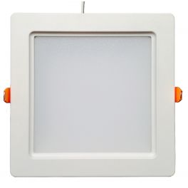 Plafonnier LED 30W 230V carré encastrable blanc chaud