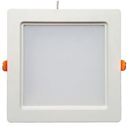 Plafonnier LED 30W 230V carré encastrable blanc chaud