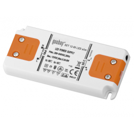 Alimentation LED 230VAC-12VDC 0-6W slim