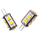 Lampe LED G4 1W8 12VDC blanc froid diamètre 15 mm
