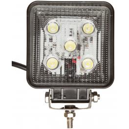 Projecteur LED carré noir 15W extérieur IP67