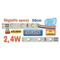 Réglette LED époxy 50 cm 2W4 12V blanc froid
