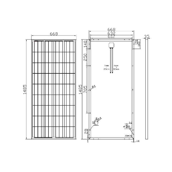 kit panneau solaire 140w 12v camping car 299 00. Black Bedroom Furniture Sets. Home Design Ideas