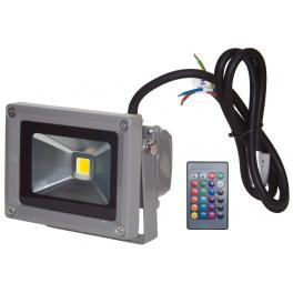 Projecteur LED 10W extérieur IP65 RVB avec télécommande