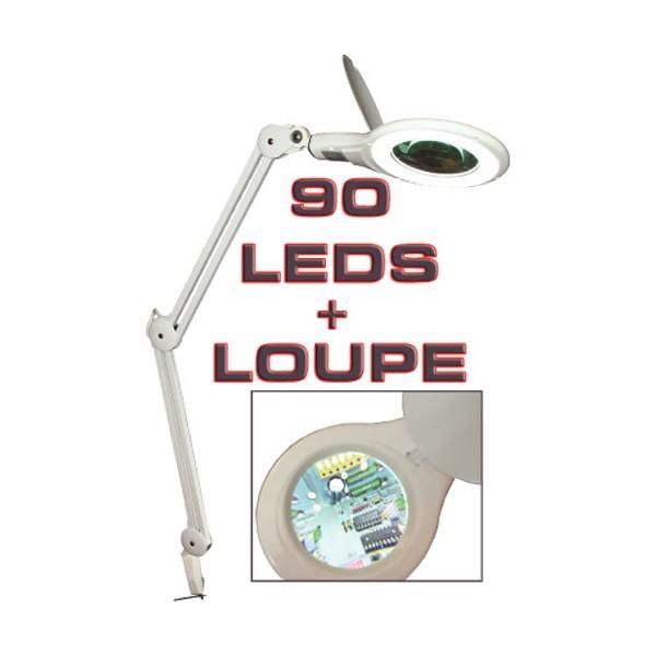 le loupe led 233 tau lentille 127 mm 8 dioptries 90 leds 5 watts 224 79 90 les loupes led