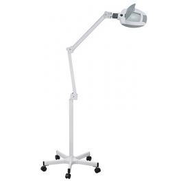 Lampe loupe LED professionnelle base à roulettes 5 dioptries Weelko (14 LEDS)