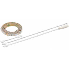 Kit Ruban LED 12V 1 m blanc chaud avec câblage
