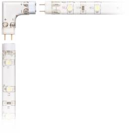 Paire de connecteurs 90° droite pour système de réglettes LED flex