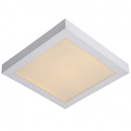 Plafonnier LED carré 18W blanc chaud montage apparent