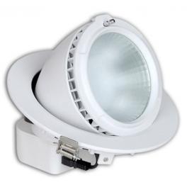 Plafonnier LED Pro encastrable orientable 38W 230V blanc chaud