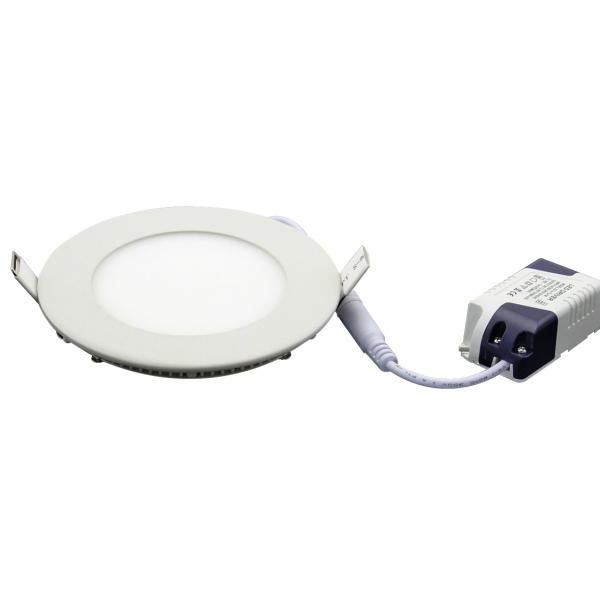 Plafonnier LED 6W 230V encastrable ultra fin teinte blanc