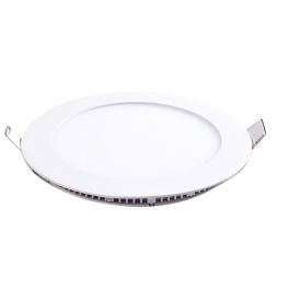 Plafonnier LED 6W 230V encastrable ultra fin teinte blanc chaud