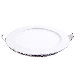 Plafonnier LED 6W 230V encastrable ultra fin teinte blanc chaud