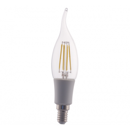 Ampoule Incandescente LED flamme E14, 4W 230V, blanc chaud