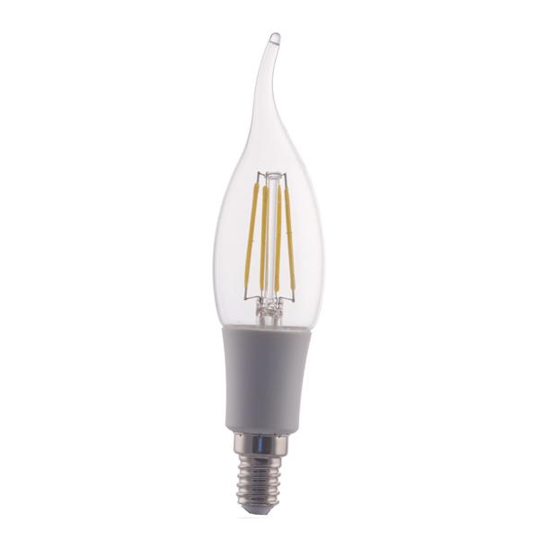 Ampoule incandescente led flamme e14 4w 230v blanc chaud - Ampoule flamme led ...