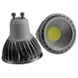 Spot LED GU10 230V COB 5W blanc neutre 90°