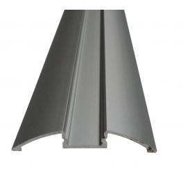 Lot de 2 Profils 1 m alu anodisé pour ruban LED 57x8.5 mm opaque