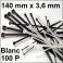 100 Colliers de serrage. Serre-câbles attache-câbles Blanc 140 x 3,6 mm