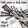 100 Colliers de serrage. Serre-câbles attache-câbles Noir 160 x 4,8 mm