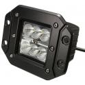Projecteur LED de travail 18W encastrable IP67 noir