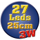 Réglette LED alu 25 cm 3W 12V blanc chaud