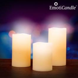 Set de 3 bougies LED Blow Sensor EmotiCandle