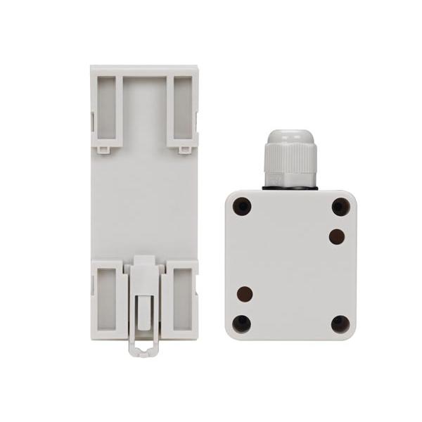 Interrupteur cr pusculaire rail din 4a avec capteur for Eclairage exterieur avec commande a distance
