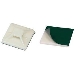 50 Embases adhésives 20mm pour colliers de serrage 5 mm