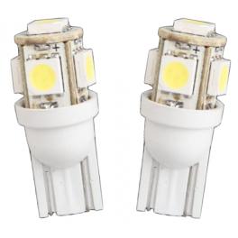 LOT de 2 Lampes LED culot T10 1W1 12VDC blanc froid 39 Lumens