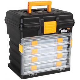 Coffret de rangement avec 4 boites compartiments 276 x 203 x 42 mm