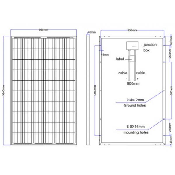 Panneau solaire polycristallin nx 250w 24v 299 90 for Panneau solaire sous vide