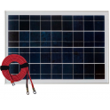 Panneau solaire polycristallin 20W 12V avec câble 2m50