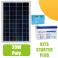 Kit panneau solaire 20W Poly 12V av régulateur 5A et batterie