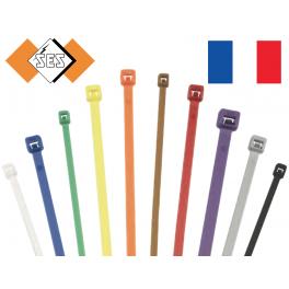 100 Colliers serrage type RILSAN / COLSON Vert 300 x 4,6 mm