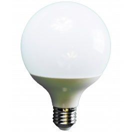 Ampoule LED globe 10W 230V à culot E27 blanc chaud