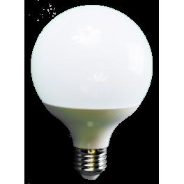 Ampoule LED globe 15W 230V à culot E27 blanc chaud