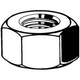 100 Ecrous Hexagonaux M2 Acier Inoxydable A2