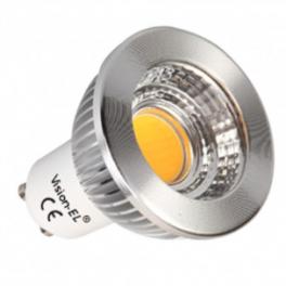 Spot LED GU10 230V COB 5W Dimmable blanc neutre 80°