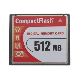 Carte Mémoire Compact-Flash Industriel, Classe de vitesse 120x, SLC, Capacité 512Moctets