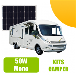 Kit panneau solaire 50W 12V Camping Car